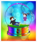 Crystal ball - boy and girl