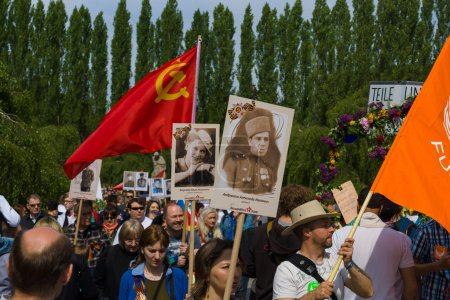 Victory Day (9 May) in Treptower Park. Berlin, Germany