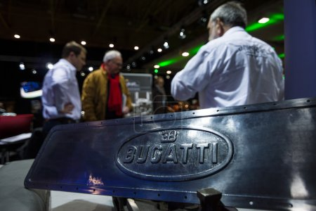 Fragment of retro car Bugatti