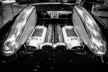 Engine of a supercar Bugatti
