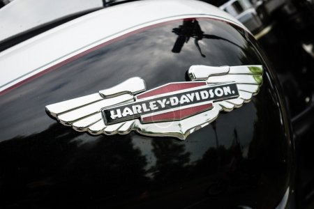 Fragment of a motorcycle Harley-Davidson