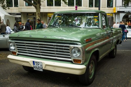 Full-size pickup truck Ford F100 (fifth generation), 1968. The Classic Days on Kurfuerstendamm.