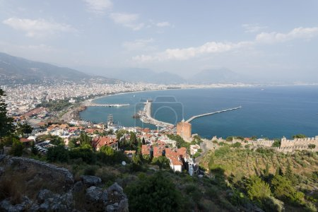 View of sea port of Alanya