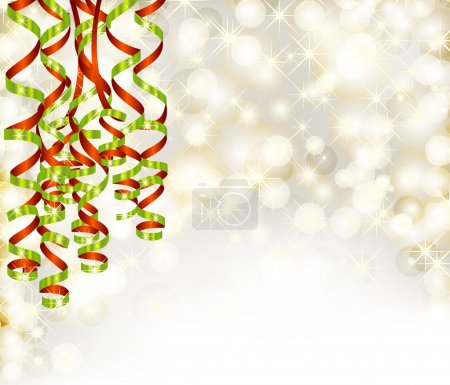 Background with lights and serpentine