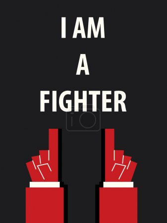 I AM A FIGHTER typography vector illustration