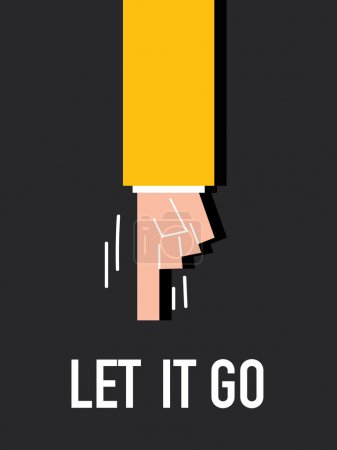 Word LET IT GO vector illustration