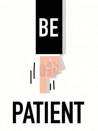 Word PATIENT vector illustration