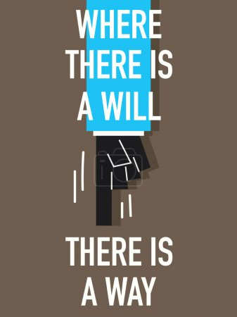 WHERE THERE IS WILL THERE IS  WAY