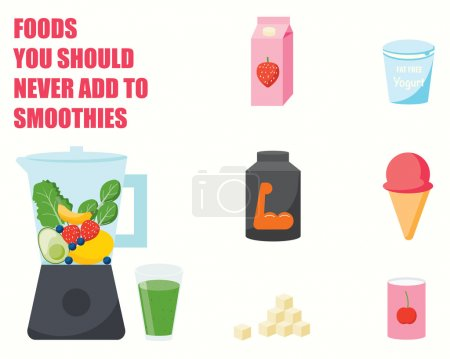 Foods you should never add to smoothies INFOGRAPHICS