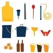 Home Brew Supplies vector illustration