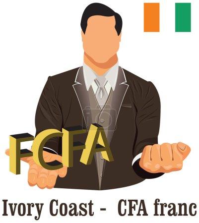 Côte d'Ivoire monnaie nationale Afrique de Ouest franc CFA symbole repr