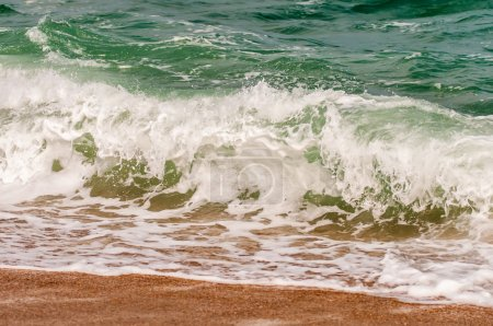 Photo for Seascape with waves and sand beach scenery - Royalty Free Image