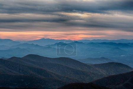 Blue Ridge Parkway National Park Sunset Scenic Mountains