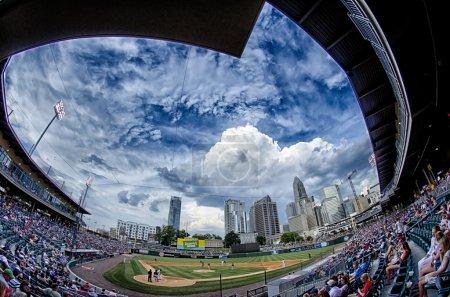 Bbt baseball charlotte nc knights baseball stadium and city skyl
