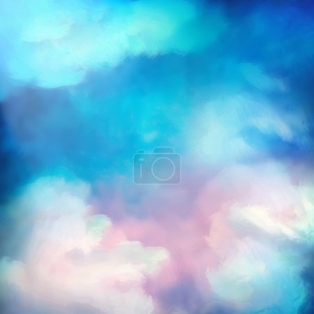Watercolor Sky Painting Vector Background