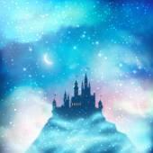 Vánoční zimní hrad