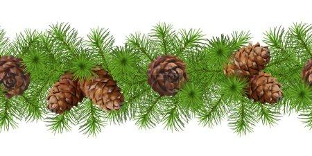 Christmas Seamless Vector Garland