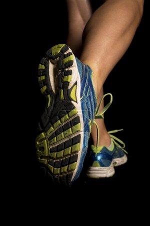 Woman legs running