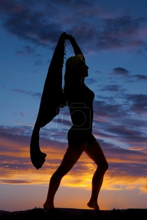 Silhouette of a woman posing