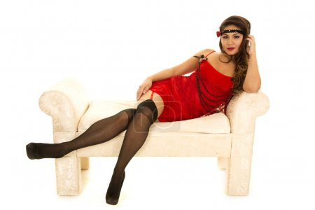 Flapper girl in red