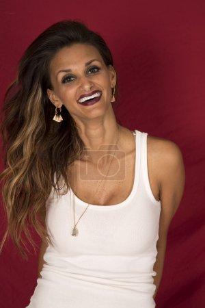 Beautiful dark skin woman