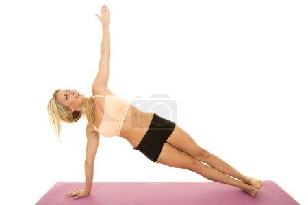 beautiful young woman exercising
