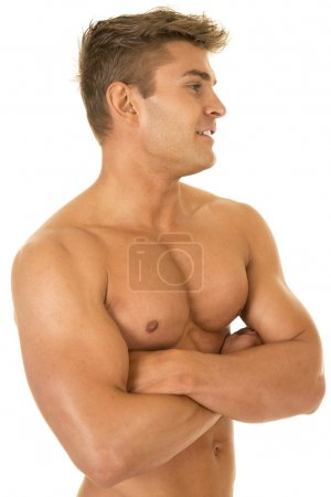 Young muscular strong man