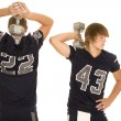 Постер, плакат: two american football players
