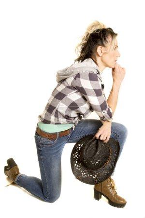 beautiful cowgirl woman