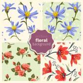 Set of floral patterns 003