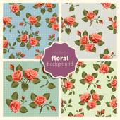 Set of floral patterns 002