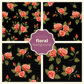 Set of floral patterns 001