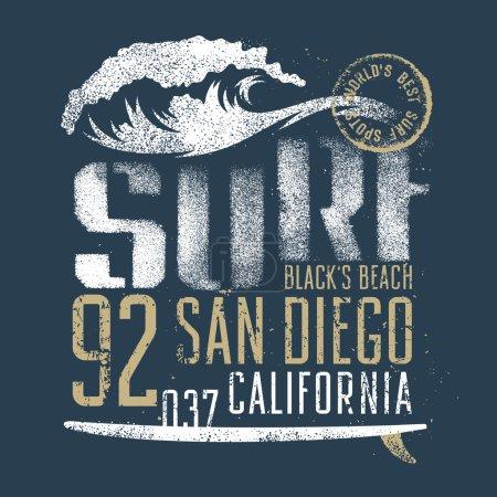 Surfing print 006
