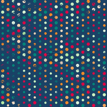 funky points seamless pattern with grunge effect