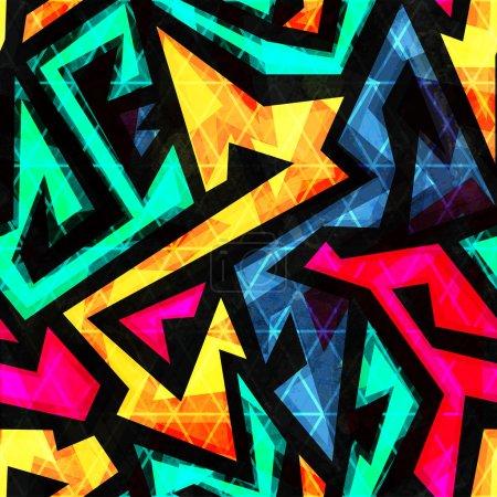 Illustration pour Motif sans couture géométrique lumineux - image libre de droit