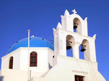 Blue dome greek orthodox church