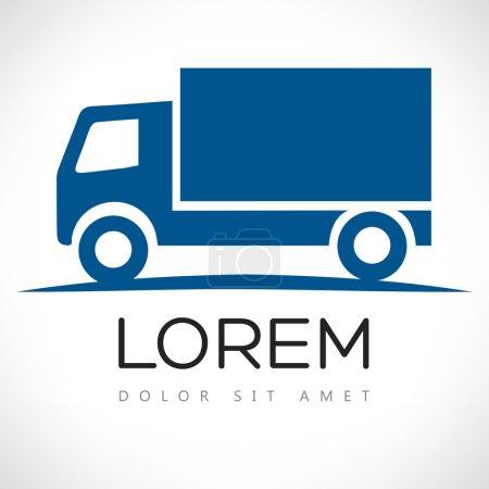 Illustration pour Modèle de conception de logo vectoriel camion - image libre de droit