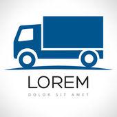 Truck vector logo design template