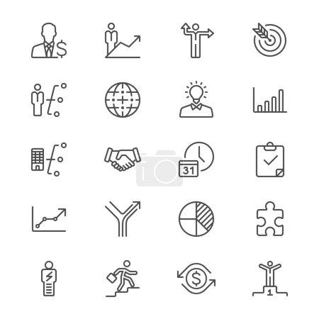 Illustration pour Icônes vectorielles simples. Clair et tranchant. Facile à redimensionner . - image libre de droit