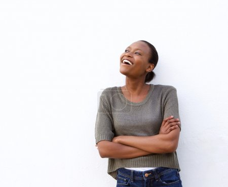 Laughing young african woman