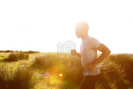 Healthy young african man running