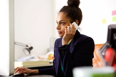 Businesswoman busy working at her office