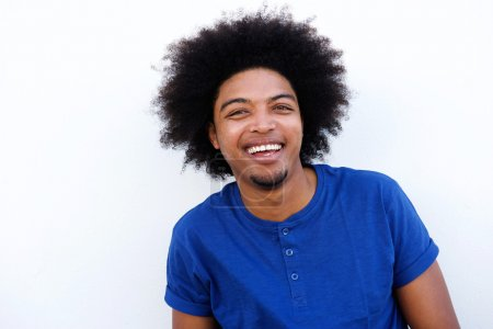 Young black man laughing