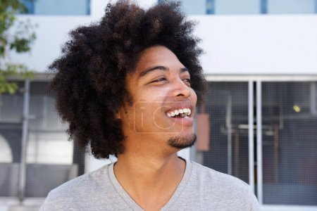 Young african american man with afro