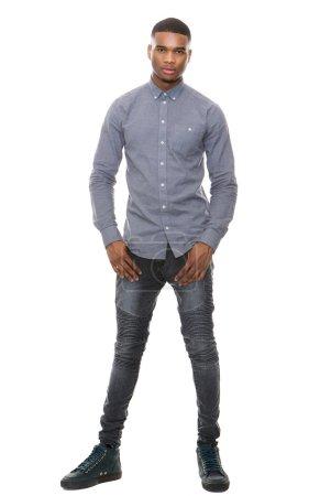 Full length handsome african american man