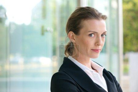 Close up portrait of a confident business woman