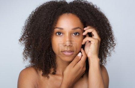 African beauty woman with curly hair