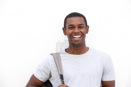 Black college student smiling