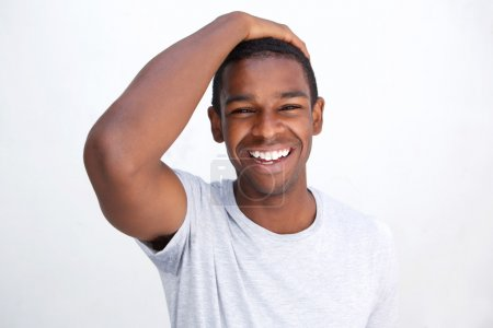Laughing african american man