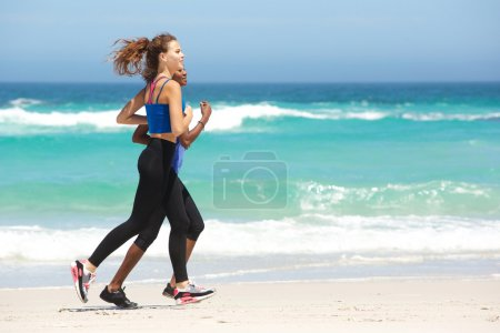 Two young sporty women